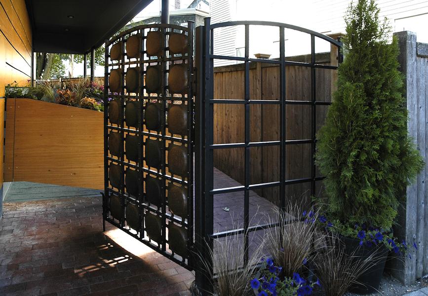 Entry Gate for Oleana Restaurant