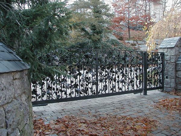 Leafy Driveway Gate