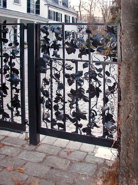 Leafy Driveway Gate Detail