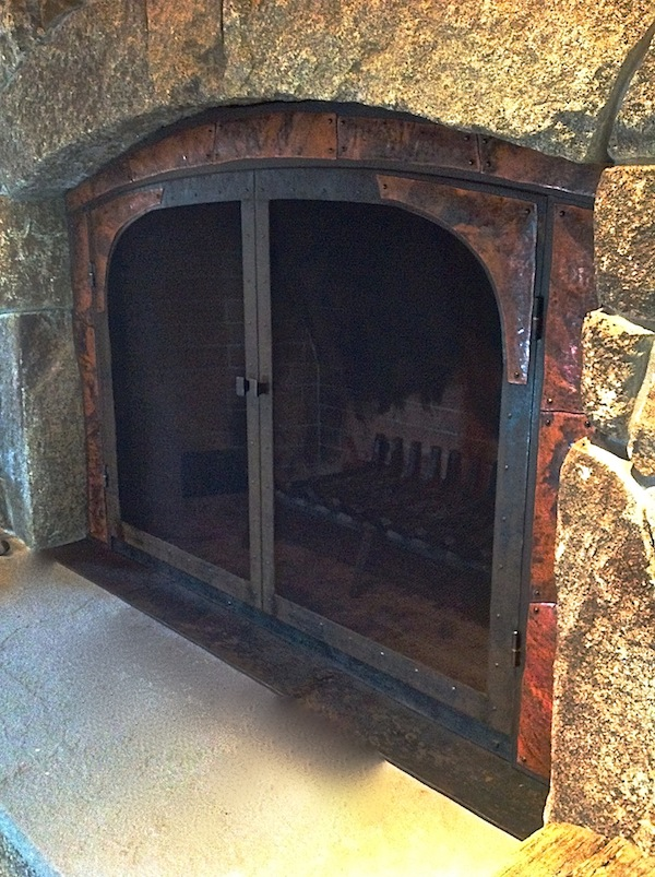 Rustic Fireplace Screen