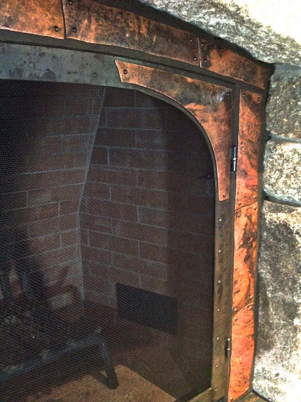 Rustic Fireplace Screen
