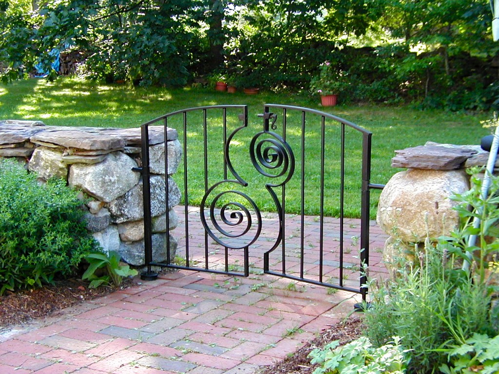 Small Spirals Garden Gate