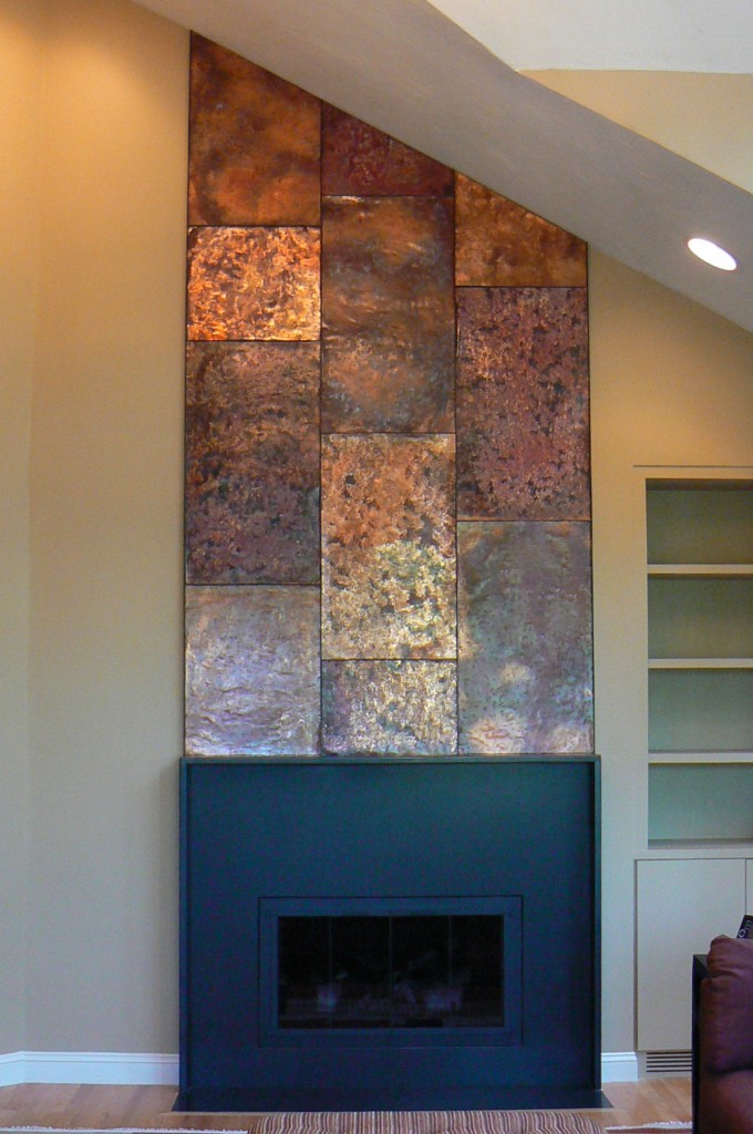 Artisan Iron 187 Copper Wall Fireplace Mantle