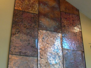 Copper Wall Fireplace Mantle