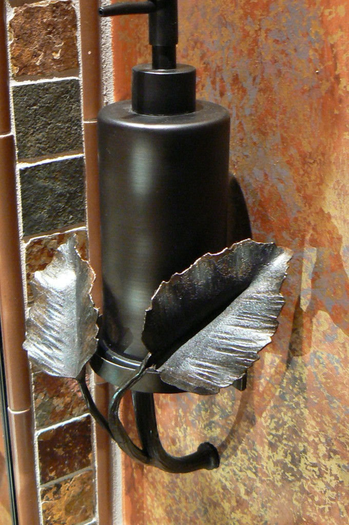 Fireplace In Bathroom Wall