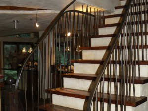 Freeform railing with Jeff Kamm Architecture