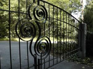 Spiral Driveway Gate