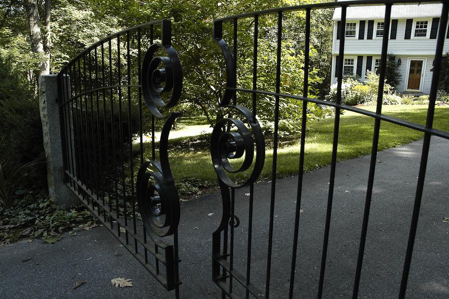 Driveway Gate Open Detail