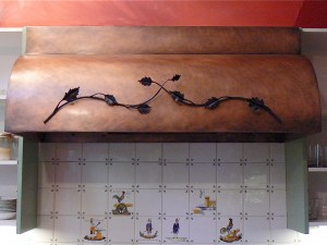 Copper Branch Range Hood