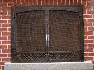 Bronze Outdoor Firescreen